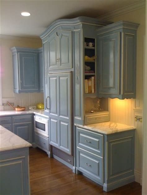 french blue kitchen cabinets house stuff pinterest