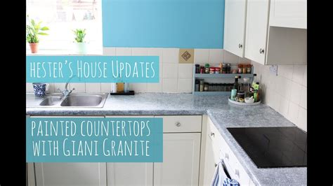 painted kitchen counters  giani granite hesters house updates youtube