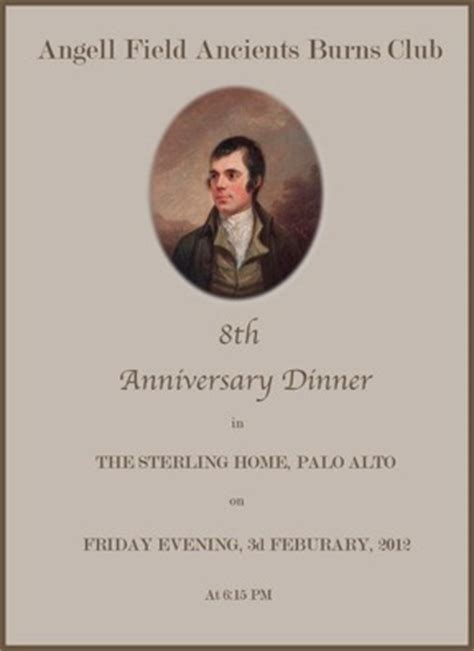 Burns Supper Menu Template by Robert Burns Dinners Hosting A Burns