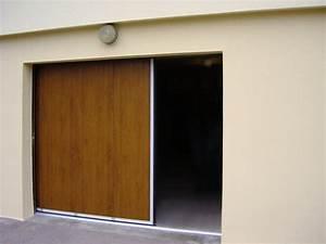 Porte de garage laterale couleur bois for Porte de garage de plus porte en bois sur mesure
