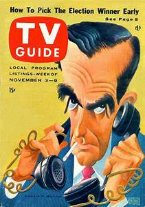 Tv Guide  November 3  1956  U2014 Edward R  Murrow By Al