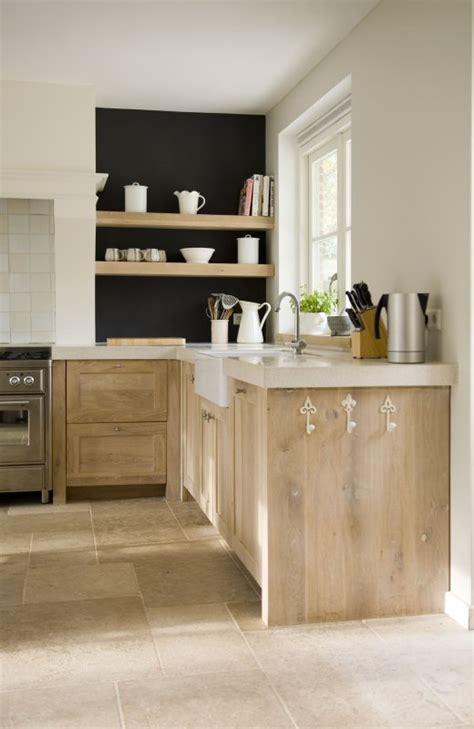 weathered pickled oak kitchen cabinets  shelves