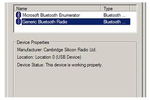 generic bluetooth radio driver