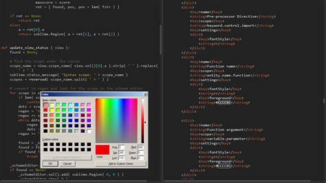 sublime text color scheme github bobef colorschemeeditor quot real time quot color scheme