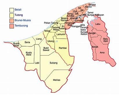 Brunei Districts Map Populationdata Maps Wikipedia Source
