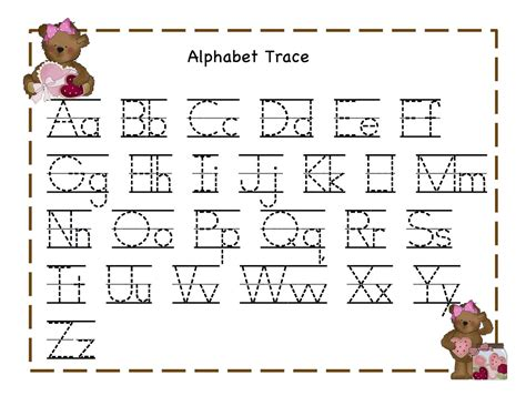 alphabet tracing worksheets for 3 year olds awesome
