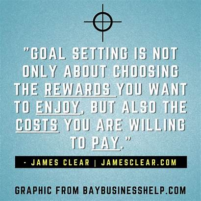 Goal Setting James Clear Quotes Business Motivational