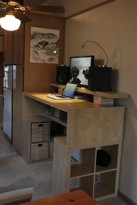 desk with lots of storage large diy standing desk with lots of storage space