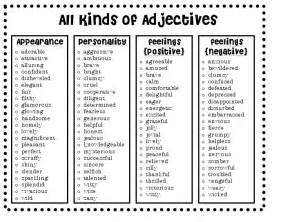 best adjectives for resume adjectives 3rd grade ideas
