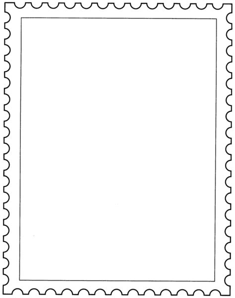 Postage Stamp Template Png & Free Postage Stamp Template