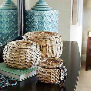 Wicker, Baskets, Used, As, Extra, Storage, In, The, Small, Spaces