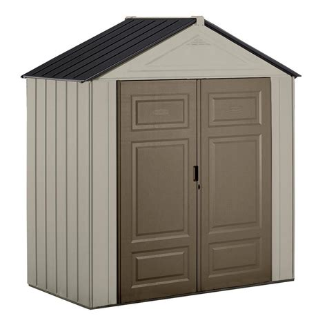 shed rubbermaid rubbermaid storage shed heavy duty plastic resin w floor