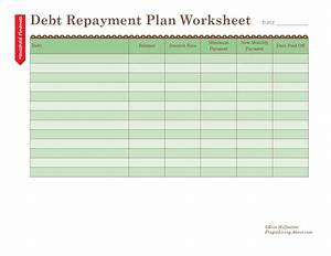 How To Figure Interest On Credit Card How To Use A Debt Repayment Plan Worksheet