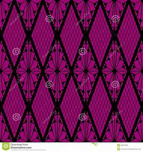 Black Lace Seamless Pattern On Pink Stock Vector - Image ...