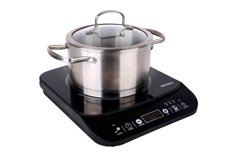 1800w Electric Induction Cooktop Countertop Cooker Burner Heat Portable Stove