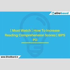 [ Must Watch ] How To Increase Reading Comprehension Scores