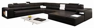 polaris black top grain italian leather sectional sofa With polaris italian leather sectional sofa in grey