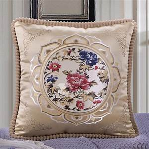 Vintage, Square, Decorative, Couch, Pillows, Burgundy, Cream, Blue, Pillow, Core, Not, Included