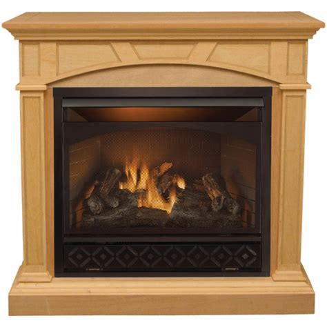 lowes gas fireplace procom compact vent free gas fireplace from lowes