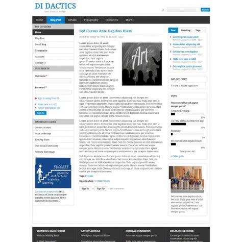 tutorials website template education academic blog