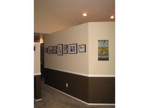can i see two tone wall chair rail pics esp hallways