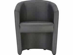 Fauteuil Club Pas Cher : cabriolet mino coloris noir en pu vente de tous les fauteuils conforama ~ Teatrodelosmanantiales.com Idées de Décoration