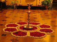 Diwali Flowers Rangoli Designs