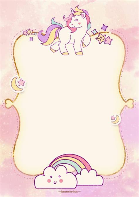 invitaciones de unicornio tarjetas  descargar