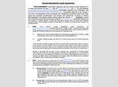 Free Arizona Residential Lease Agreement PDF Word