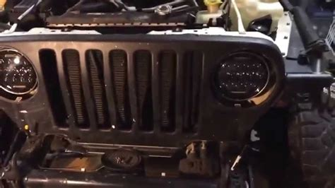 jeep headlights at night install of nightsun4x4 75w led headlights jeep lj tj youtube