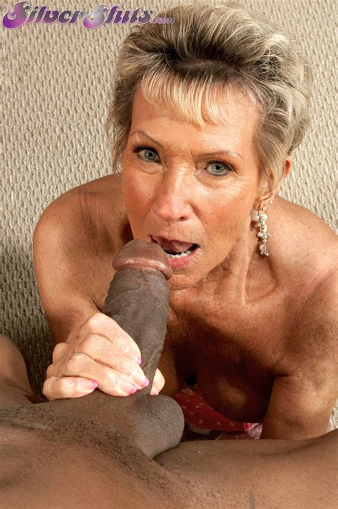 Granny Sandra Ann Sucks On A Black Pecker Before She Is