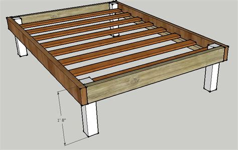 simple queen bed frame  luckysawdust  lumberjockscom woodworking community