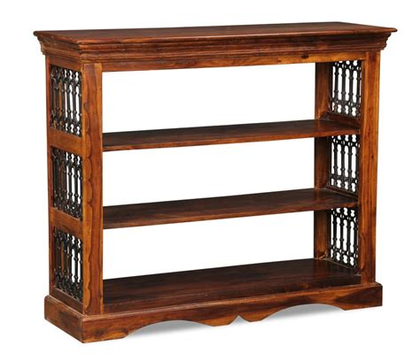 Buy Low Bookcase by Small Jali Bookcase Sheesham Furniture