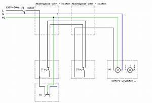 Schaltplan Einfache Ausschaltung : wechselschaltung serienschaltung wiring diagram ~ Haus.voiturepedia.club Haus und Dekorationen