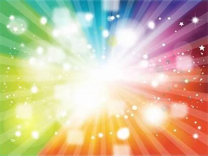Rainbow Stars Background Bright Colorful Eye Super