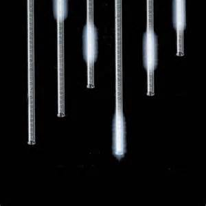 buy snowfall set of 5 single sided 14 quot led outdoor christmas icicle light add on tubes