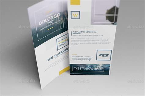 4 Panel Brochure Roll Fold Template Free 4 Panel A4 Roll Fold Brochure Mockup Business T