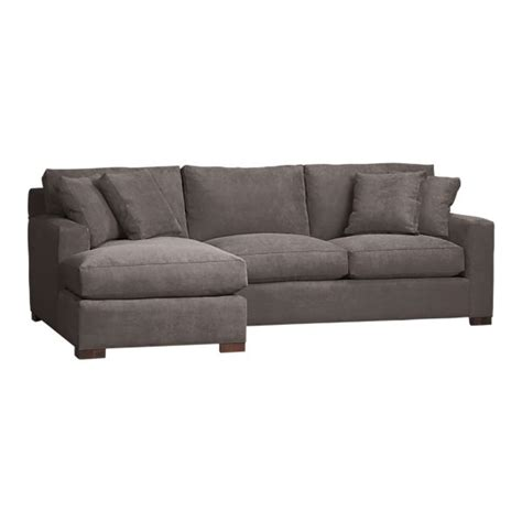 crate and barrel axis sofa cleaning axis 2 left arm chaise sectional in gray sectional