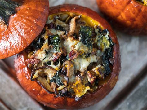 Thanksgiving Stuffed Roast Pumpkins Recipe Serious Eats