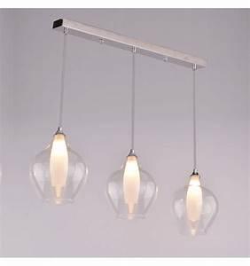 Suspension Luminaire En Verre Transparent : suspension design 3 gouttes vietra kosilum ~ Teatrodelosmanantiales.com Idées de Décoration