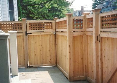 wooden gates and fences wood fence gate company boston ma residential and commercial custom fencing