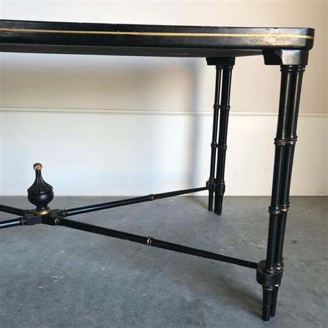 Check out our coffee table tray gold selection for the very best in unique or custom, handmade pieces from our decorative trays shops. Magnificent English Regency Black Lacquered Tray Top Coffee Table For Sale at 1stdibs