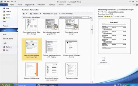 how to create resume in ms word resume ideas
