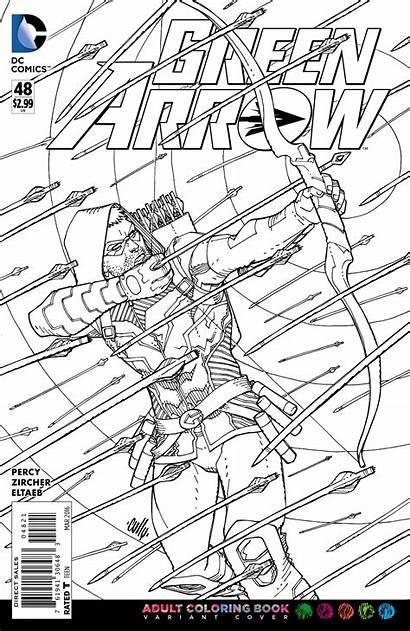 Coloring Dc Adult Comics Arrow Covers Comic