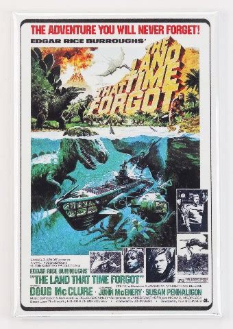 The Land That Time Forgot Movie Poster FRIDGE MAGNET Sci