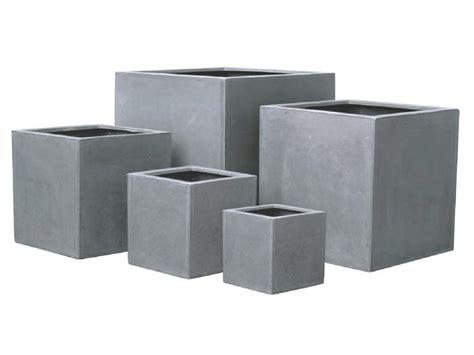pot pour fleur bac cube int 233 rieur ext 233 rieur h 20cm gris