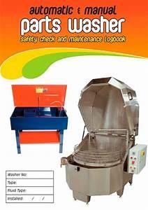 Auto  U0026 Manual Parts Washer Safety Check  U0026 Maintenance Logbook