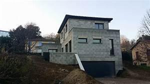 maison sur terrain en pente dans les monts d39or bureau d With plan de maison sur terrain en pente