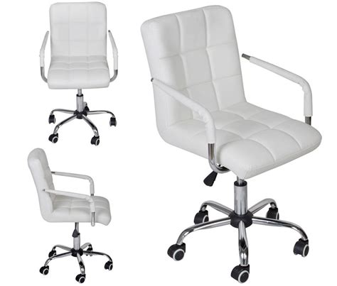 white desk and chair white modern office leather chair hydraulic swivel