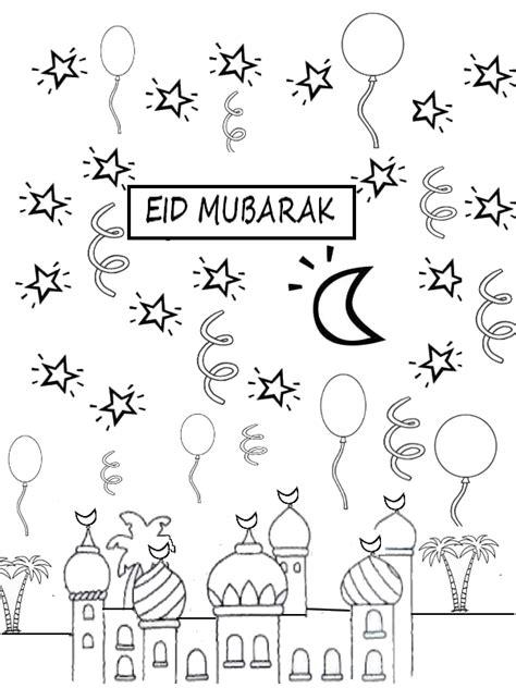 Kleurplaat Eid by Coloring Page Eid Mubarak Kleurplaten